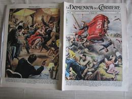 # DOMENICA DEL CORRIERE N 21 -1957  TRAGICA MILLE MIGLIA /  RAPINA IN LOCALE DI PARIGI / GENOVA - Prime Edizioni