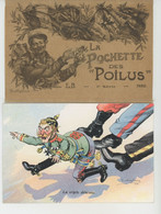"""ILLUSTRATEUR  PAUL DUFRESNE - GUERRE 1914-18 - Série Complète De 12 CPA Dans Pochette D'origine """"LA POCHETTE DES POILUS - Other Illustrators"""