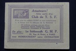 FRANCE - Rare Carnet De Vignettes  TSF / GMP  - Etat Moyen Et Fragile Mais Rare - L 107257 - Blocs & Carnets