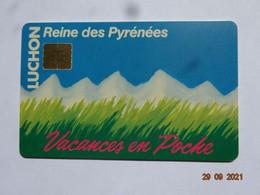 CARTE A PUCE CHIP CARD  CARTE FIDÉLITÉ LUCHON REINE DES NEIGES  VACANCES EN POCHE  HAUTE-GARONNE 65 - Gift And Loyalty Cards