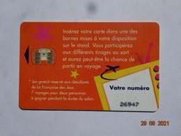 CARTE A PUCE CHIP CARD  CARTE FIDÉLITÉ CARTE JEUX LA FRANCAISE DES JEUX VOYAGES VATOO - Gift And Loyalty Cards
