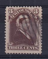 Newfoundland: 1896/98   QV    SG65a     3c   Chocolate-brown    Used - 1865-1902