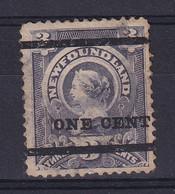 Newfoundland: 1897   QV - Surcharge    SG80   1c On 3c    MH - 1865-1902