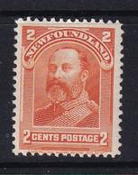 Newfoundland: 1897/1918   Edward VII   SG86   2c   Orange   MH - 1865-1902