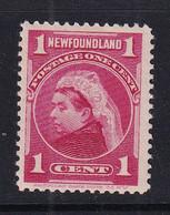 Newfoundland: 1897/1918   QV   SG84   1c   Carmine   MH - 1865-1902