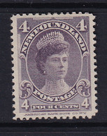 Newfoundland: 1897/1918   Queen Mary   SG89   4c      MH - 1865-1902