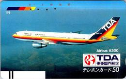 (29-09-2021 A) Phonecard - Japan ?  - (1 Phonecard)  TDA Airbus A300 - Aerei