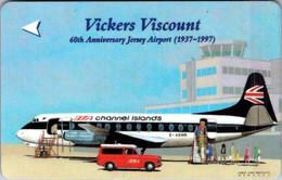 (29-09-2021 A) Phonecard - Jersey  - (1 Phonecard) Aircraft Vivkers Viscount - Aerei