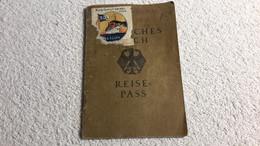 Reise - Pass Deutsches Reich Reisepass Stettin 1927 Marke Nach Südamerika Viele Stempel Pass Ausweis - 1939-45