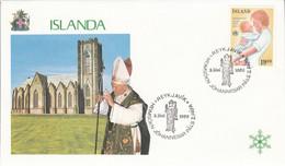 ISLANDE 1989 VISITE  PAPE JEAN PAUL II - Lettres & Documents