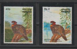 Pakistan 1981 Oiseau Série 546-47 2 Val ** MNH - Pakistan
