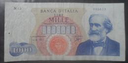 Italy 1000 Lira Banknote Italia Lire Mille 1962 - 1000 Liras
