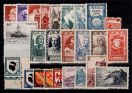 Année Complète 1946 N** + Yv 755a , YV 748 à 771 Cote 26,30 Euros - 1940-1949