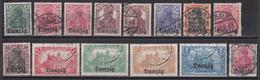 Danzig 1920 - Lot Aus Mi.Nr. 1 - 14 - Gestempelt Used - Danzig
