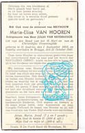 DP Maria Elisa Van Hooren ° Sint-Andries 1893 † Brugge 1941 X Jules Van Reybrouck // G. Gezelle - Santini