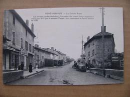 Cpa Pontanevaux ( La Chapelle De Guinchay ) La Grande Route épicerie Saône Et Loire 71 - Other Municipalities