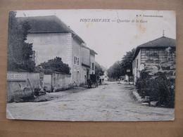 Cpa Pontanevaux ( La Chapelle De Guinchay ) Quartier De La Gare Hôtel Restaurant Saône Et Loire 71 - Other Municipalities