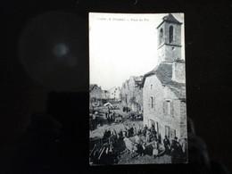48 - Lozère - Chanac - Place Du Pio - Grosse Animation -marché - édition Grégoire - Beau Plan Pas  Courant CPA Bon état& - Chanac
