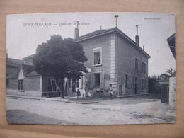 """Cpa Pontanevaux ( La Chapelle De Guinchay ) Quartier De La Gare """"""""  Burdin """"""""  Saône Et Loire 71 - Other Municipalities"""