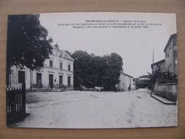 Cpa Pontanevaux ( La Chapelle De Guinchay ) Quartier De La Gare Attelage Boeuf Saône Et Loire 71 - Other Municipalities