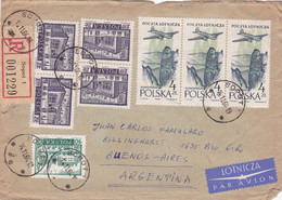 POLOGNE ENVELOPPE CIRCULEE ANNEE 1964, RECOMMANDE PAR AVION. SOPOT A BUENOS AIRES ARGENTINE- LILHU - Covers & Documents