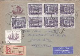 POLOGNE ENVELOPPE CIRCULEE ANNEE 1964, RECOMMANDE PAR AVION. SOPOT A BUENOS AIRES ARGENTINE.- LILHU - Covers & Documents