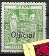 New Zealand Mh * Official Stamp 15 Euros - Officials