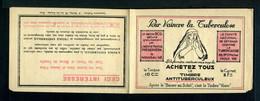 Carnet De 1928  - Tuberculose - Antituberculeux - N° 28*SI*13 Couverture  - Pub Urbaine Et Drap D'Elbeuf - Blocs & Carnets