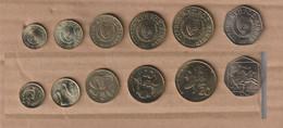 Chipre  5 Monedas De 1 A 50 Mils   1998-2002  UNC / SC - Chipre