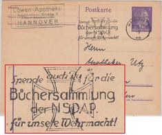 DR - Büchersammlung Der NSDAP Masch.werbestpl. Ganzsache Hamburg 1942 - Covers