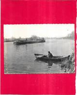 AMFREVILLE SOUS LES MONTS - 27 -  La Seine - PENICHE 1er Plan  -- DAG2 - - Autres Communes