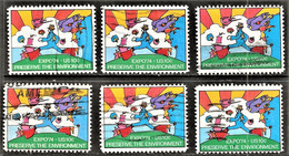 United States - Scott #1527 Used - 6 Different - Plate Blocks & Sheetlets