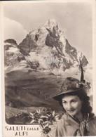 Aosta Valtournanche M. Cervino Saluti Dalle Alpi Cappello Alpino Fg - Other Cities