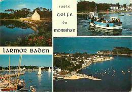 56 - Larmor Baden - Sur Le Golfe Du Morbihan - Multivues - Bateaux - CPM - Voir Scans Recto-Verso - Larmor-Plage