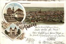 Gruss Aus Amberg - Litho - Amberg