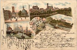 Gruss Aus Wismar - Litho 1896 - Wismar