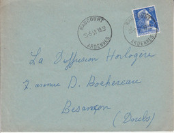 LETTRE DE RAUCOURT ARDENNES 1958 - 1921-1960: Modern Tijdperk