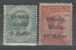 Venezia Giulia 1919 - Effigie 5 H. Su 5 C. E 20 H. Su 20 C. **            (g7913) - Venezia Giulia