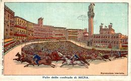 SIENA PALIO DELLE CONTRADE DI SIENA ILLUSTRAZIONE   Italia Italie Italien Italy - Siena