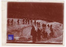 11x8cm Chamonix Mont-Blanc Mer De Glace Rare Photo Originale Animée 1908 Glacier Alpinisme Colonie Crevasse Alpes A57-71 - Places