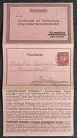 Deutsches Reich 1922, Drucksache Bücherzettel KEMPTEN - Covers & Documents