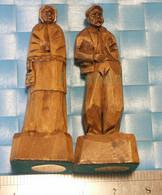 2 Sculptures Sur Bois -St-Jean Port-Joli P.Quebec, Artisanat Blanchet, Et Signature De L'artiste Migil - Legni
