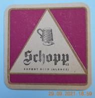 1  SOUS  BOCK   De BIERE   SCHOPP  ALSACE - Beer Mats