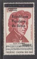 2009 Benin Chopin Music Composer 1000F Overprint Y&T 1197 MNH **DIFFICULT** - Benin – Dahomey (1960-...)
