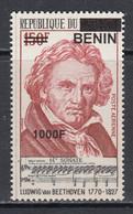 2009 Benin Beethoven  Music Composer 1000F Overprint Y&T 1196 MNH **DIFFICULT** - Benin – Dahomey (1960-...)
