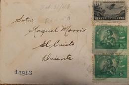 O) 1948 CUBA, CARIBBEAN, AIRPLANE, MOTHER AND CHILD,RETIRO DE COMUNICACIONES, TO ORIENTE - Covers & Documents