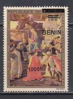 2009 Benin Art Paintings Botticelli Adoration  1000F Overprint Y&T 1194 MNH **DIFFICULT** - Religione