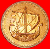 * SHIP: CYPRUS ★ 5 MILS 1973 UNC MINT LUSTRE!  LOW START ★ NO RESERVE! - Chipre