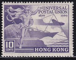 HONG KONG 1949 SG #173 10c MH UPU - Unused Stamps