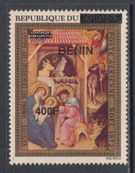 2009 Benin Art Paintings Nativite  400F Overprint Y&T 1184 MNH **DIFFICULT** - Benin – Dahomey (1960-...)
